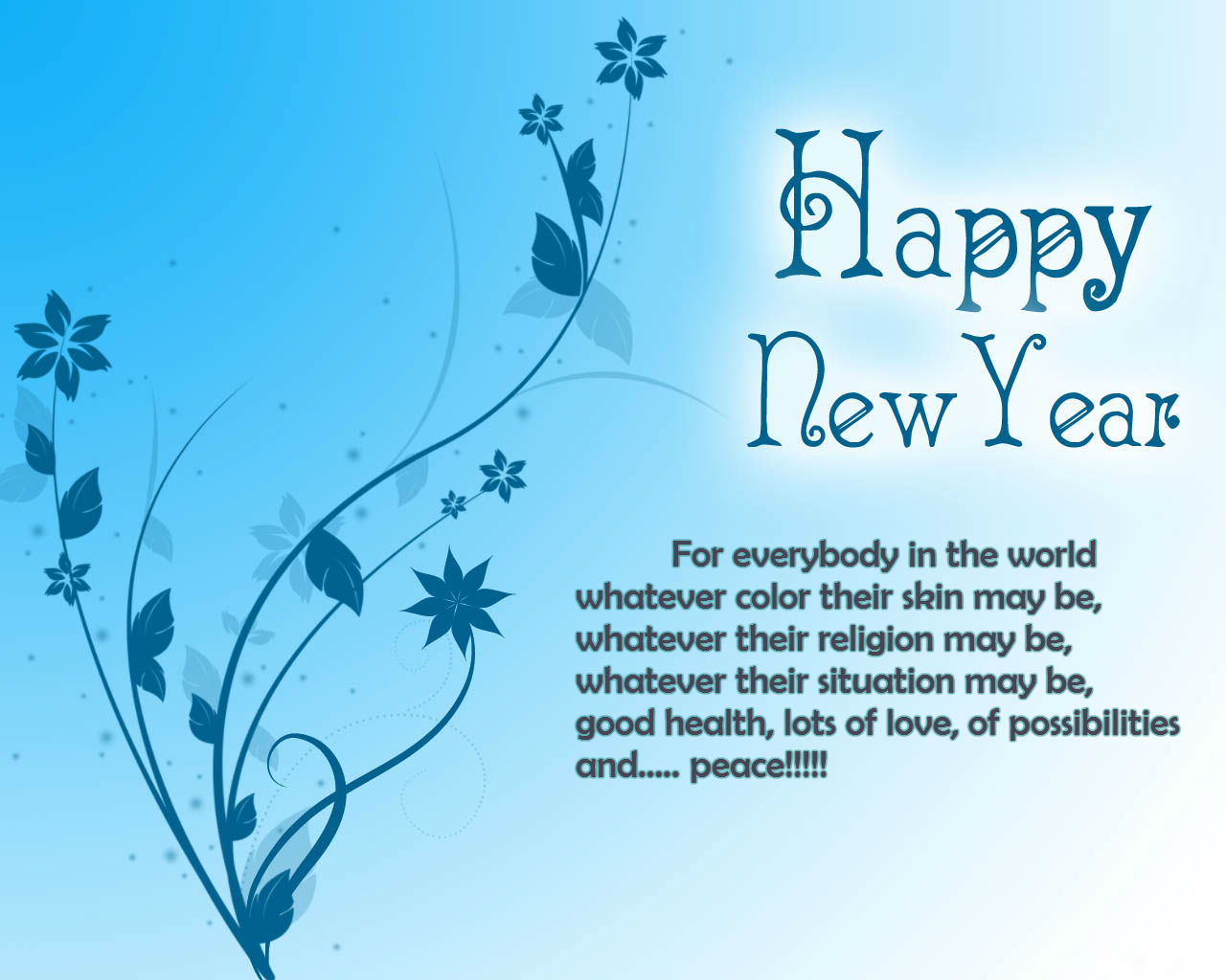 Sms with Wallpapers: Happy New Year 2014 greetings cards