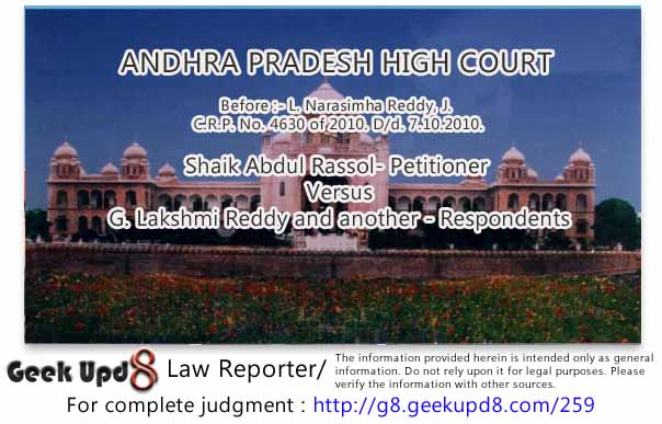 Andhra Pradesh High Court - Power to summon strangers to the suit as witnesses can be exercised by the Court on its own accord and not on the insistence of a party to the suit - If a party wants a particular individual to be summoned or examined as witness, it must have resolute to Rules 1 and 1-A of Order 16, CPC