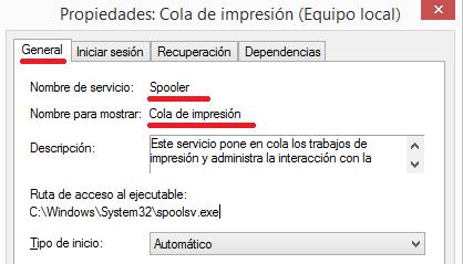 Servicio Spooler