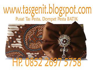 tas pesta batik, dompet pesta batik, dompet unik, dompet murah