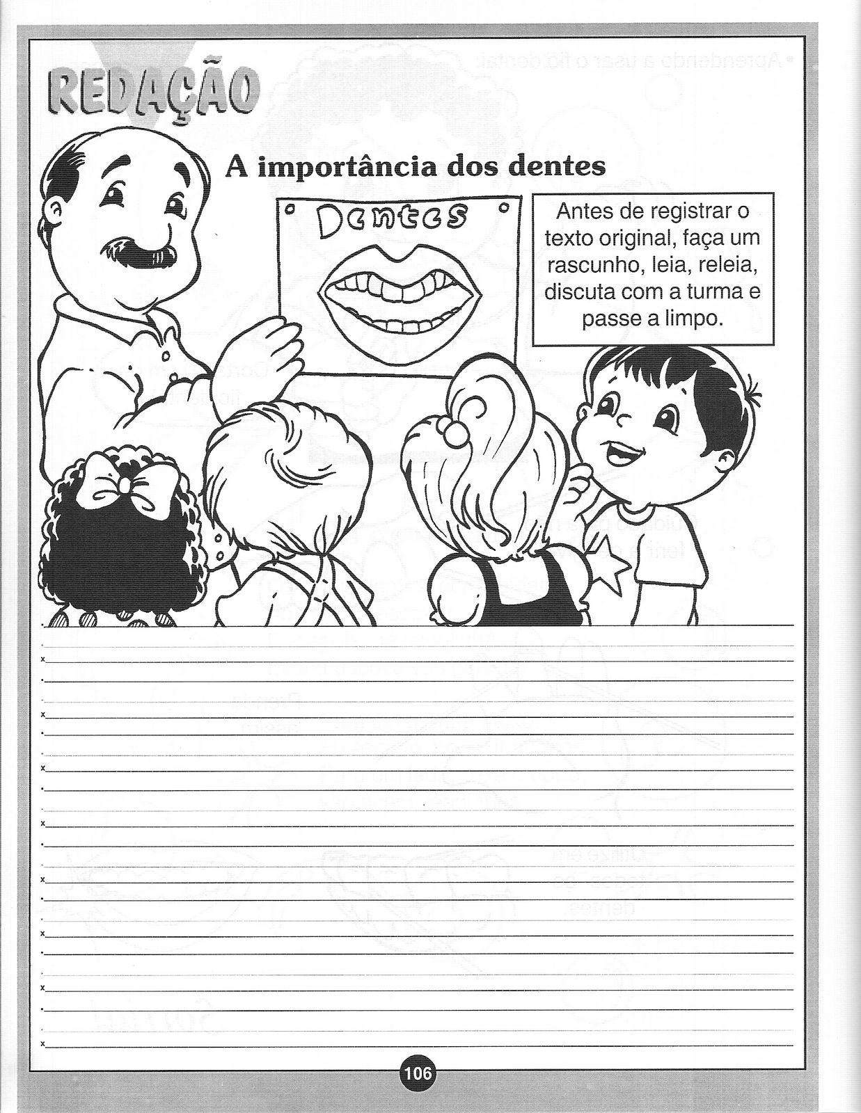 Populares ESPAÇO EDUCAR: Atividades sobre higiene bucal - atividades sobre a  OX12