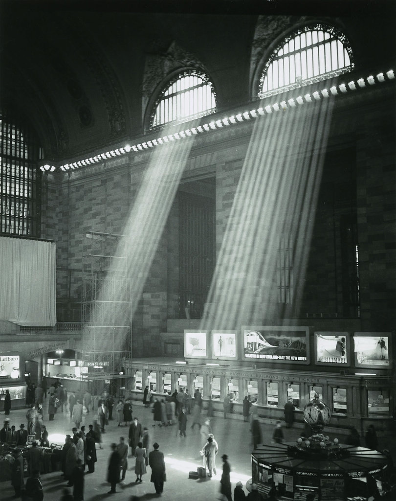 grand central terminal with its main concourse information desk as by french photographe brassa in an iconic meeting place