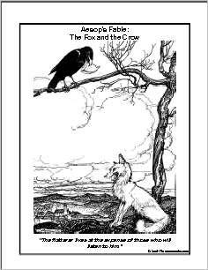 the fox and the crow story in hindi