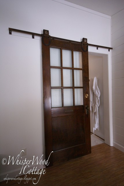 Sliding barn door for Hanging a sliding barn door