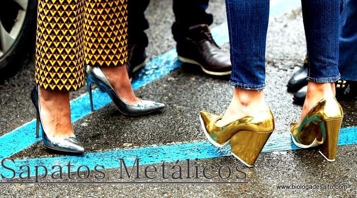 como usar sapatos metálicos