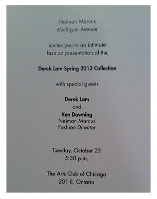 Neiman Marcus's Derek Lam invite