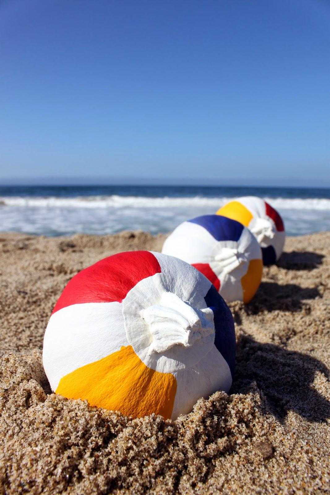 Pain the Gown Red | beach ball pumpkins