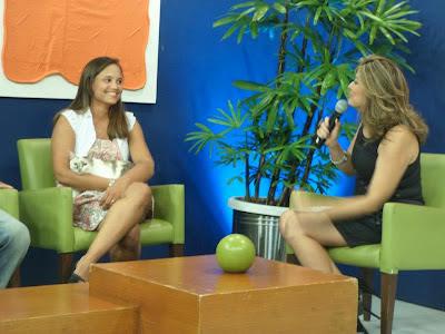Renata Góes, Gata Lili e Carla Soraya, no programa Tarde Livre da TV Diário