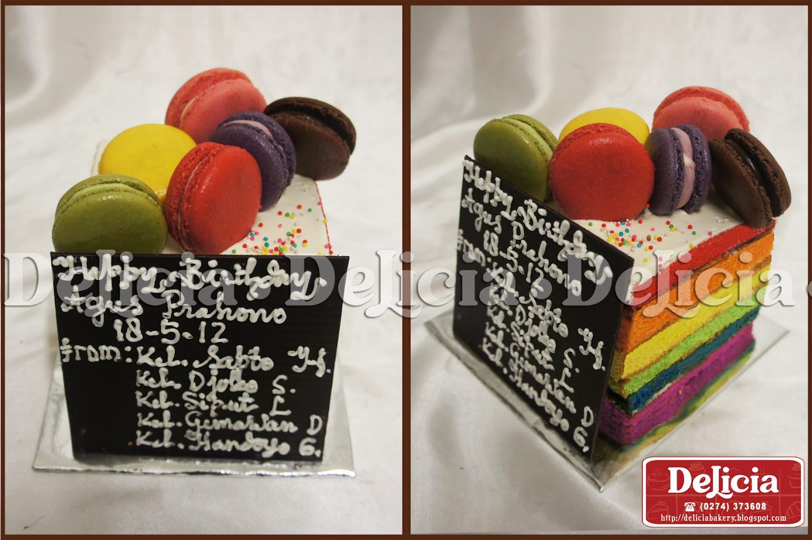 Delicia Bakery & Ice Cream Yogyakarta: Rainbow Cake by ...
