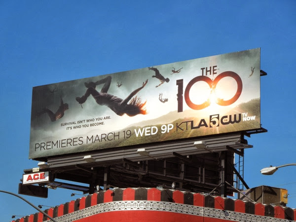 The 100 series premiere TV billboard