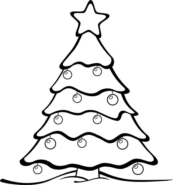 Arboles de navidad para colorear ~ Dibujos para Niños