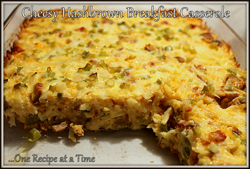 ... the Ropes...One Recipe at a Time: Cheesy Hashbrown Breakfast Casserole