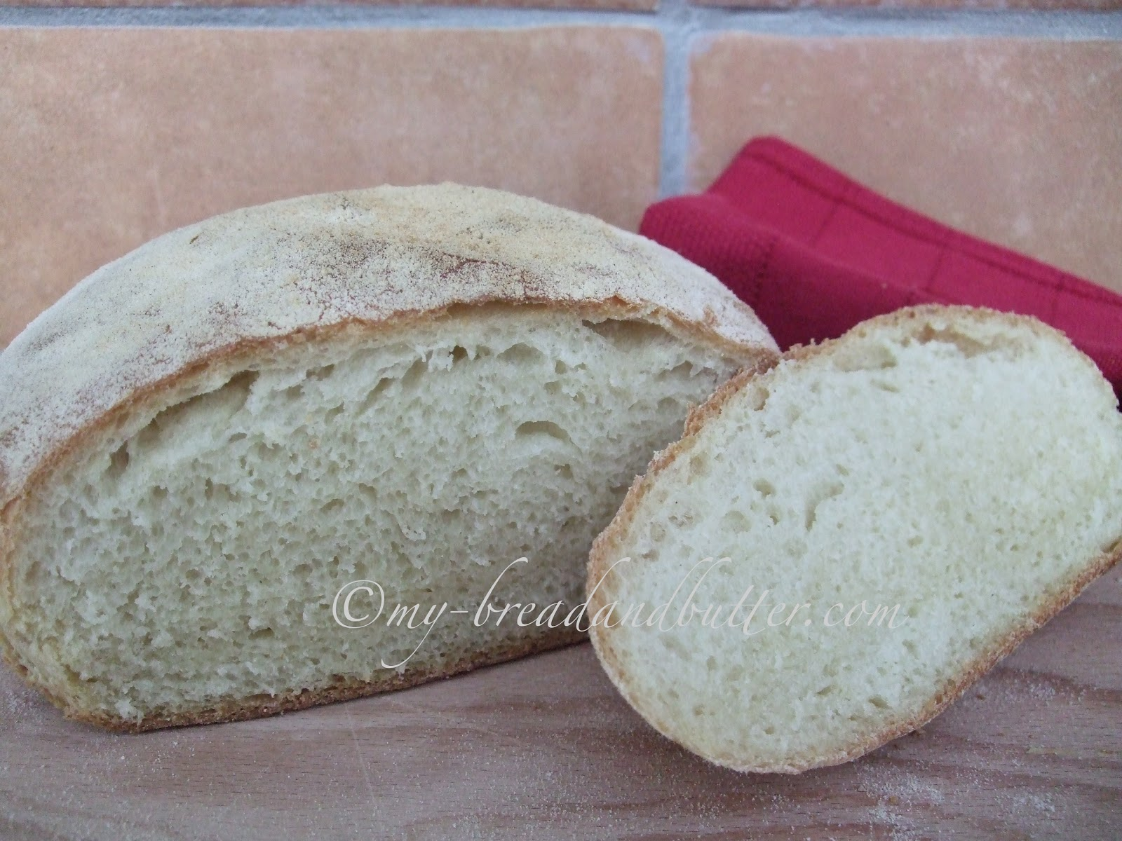 Bread and Butter....: Semolina flour bread with a dried