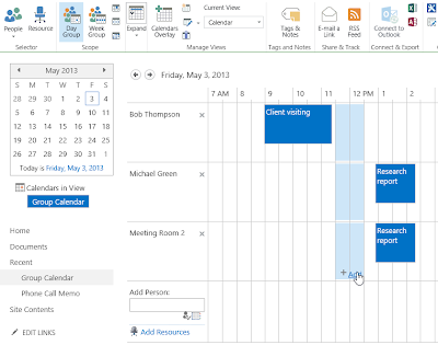 Meeting organizer in SharePoint 2013