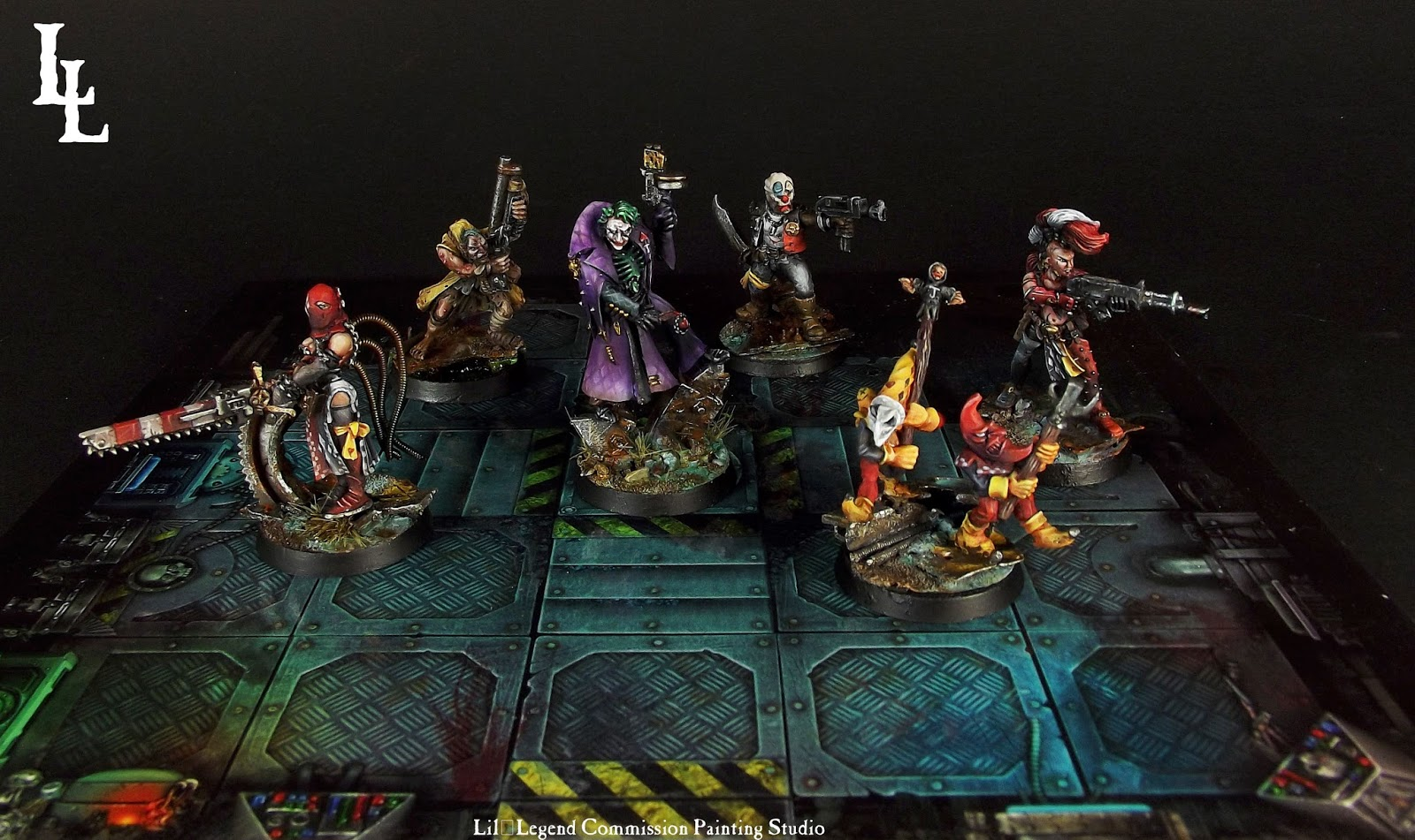 Why so serious the joker gang necromunda inquisimunda warband4 lillegend commission painting - Gang gang ...
