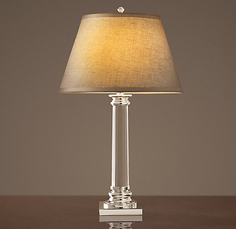 Delicieux Dead Ringer: RH Chelsea Column Lamp U0026 Overstock Stately Crystal Table Lamp