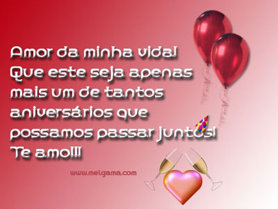 feliz aniversário Meu Amor e romântico