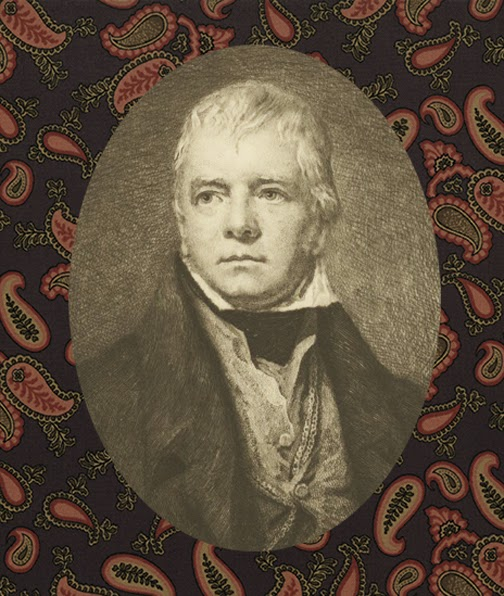 Sir Walter Scott - 11 volume illustrated - art nouveau binding