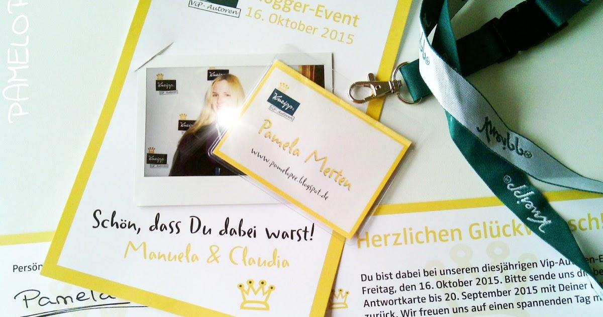 pamelopee Erlebnisbericht Kneipp BloggerEvent 2015