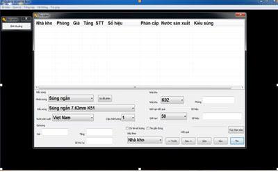 Đưa phần mềm quản lý số hiệu súng bộ binh vào sử dụng