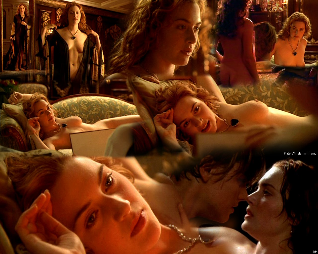 titanic bare winslet naked Kate