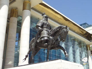Mongolia Warrior Statue - Right Side.