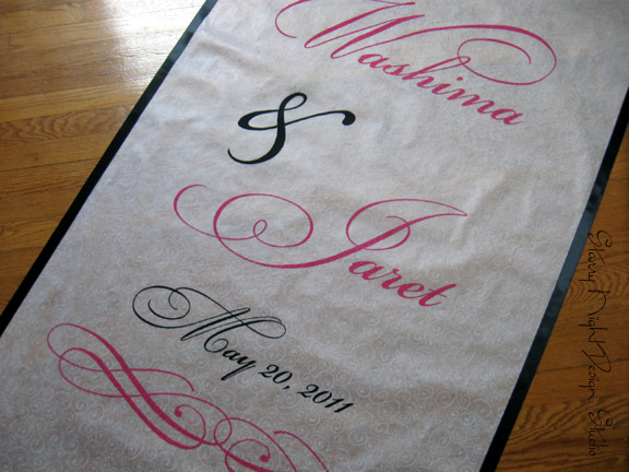 We recently finished up this beautiful wedding aisle runner