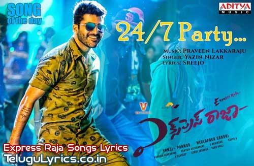 24x7-Party-Song-Lyrics-in-telugu-from-express-raja