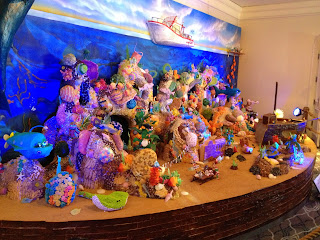 Ritz Carlton Laguna Niguel gingerbread display