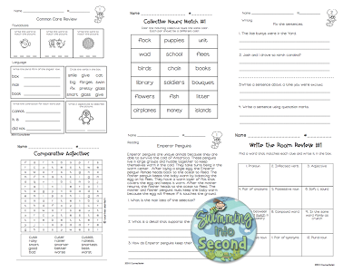 http://www.teacherspayteachers.com/Product/Common-Core-ELA-Review-Centers-for-2nd-grade-659387