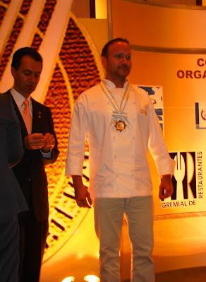 Christian Rosselle Galardonado como el Tenedor de Oro como el mejor  Chef del Año 2012
