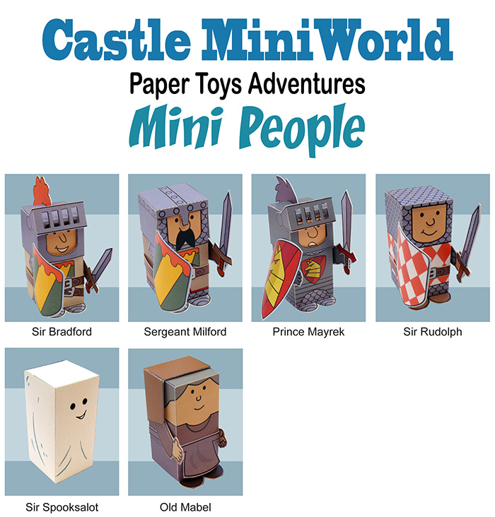 Castle MiniWorld Paper Toys Mini People