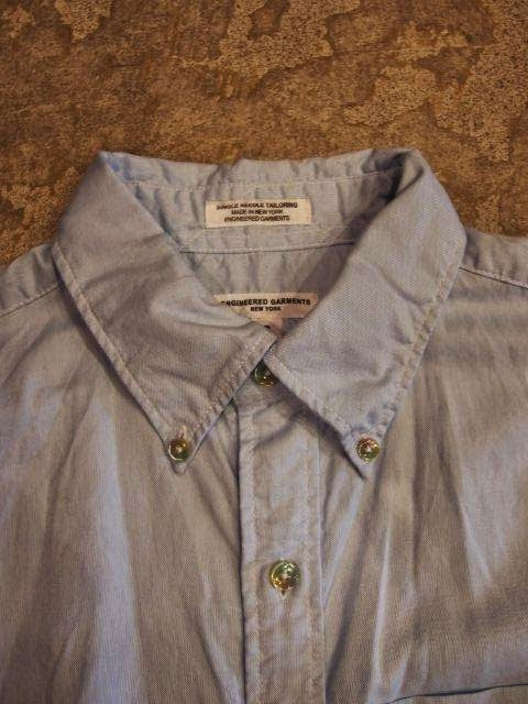 Engineered Garments 19th Century BD Shirt in Blue Light Weight Cotton Oxford Spring/Summer 2014 SUNRISE MARKET