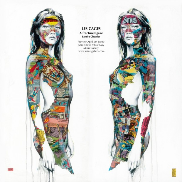 Mulheres e Quadrinhos na pintura de Sandra Chevrier