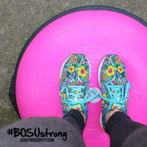 pink BOSU, sweat pink, fit approach, fitfluential, BOSU, balance training, shoes with flowers, puma, fitness