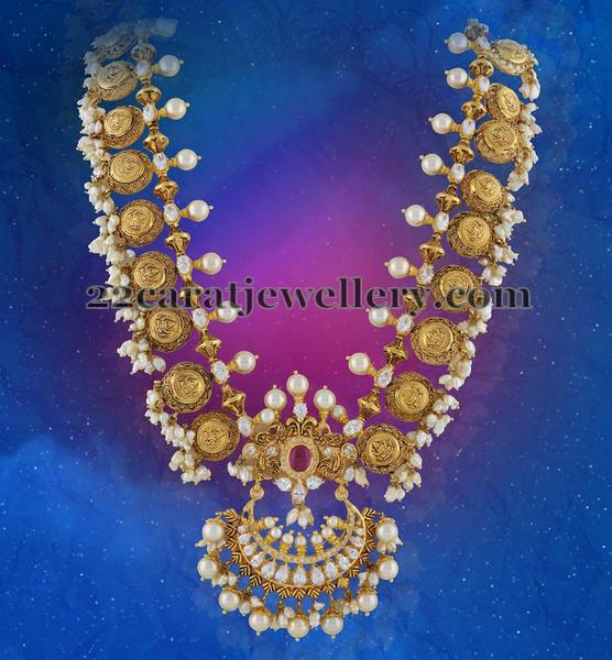 Laxmi Haram with Pearls Bunches