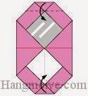 Bước 9: Gấp hai góc giấy vào trong.