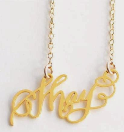 calligraphy Shay necklace