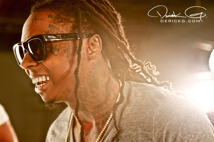 Foto do Lil Wayne na gravação do Clipe I Get Money