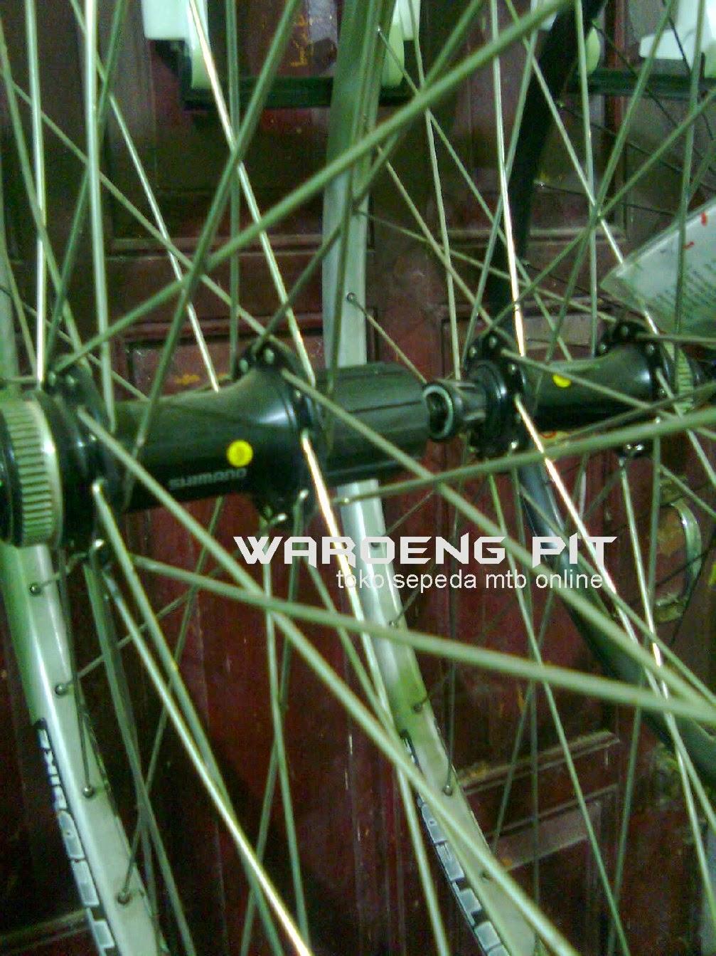 Jual wheel set United Silver Pelek Full lengkap Roda lengkap Rotor sepeda gunung mtb mountain bike dan hub set shimano 2