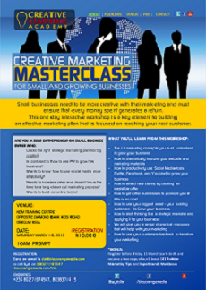 Creative Marketing MasterClass