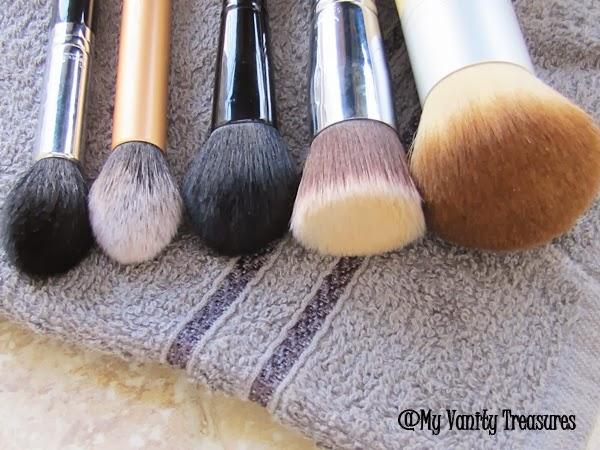 Sigma F80, Real Techniques Contour Brush, Ecotools Bronzer Brush, ELF Blush Brush, Sigma F35