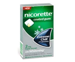 Amostra Gratis Gomas de Mascar para parar de fumar NICORETTE