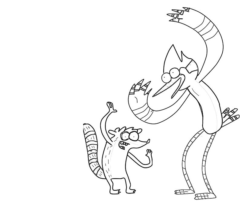 printable-mordecai-dance-coloring-pages