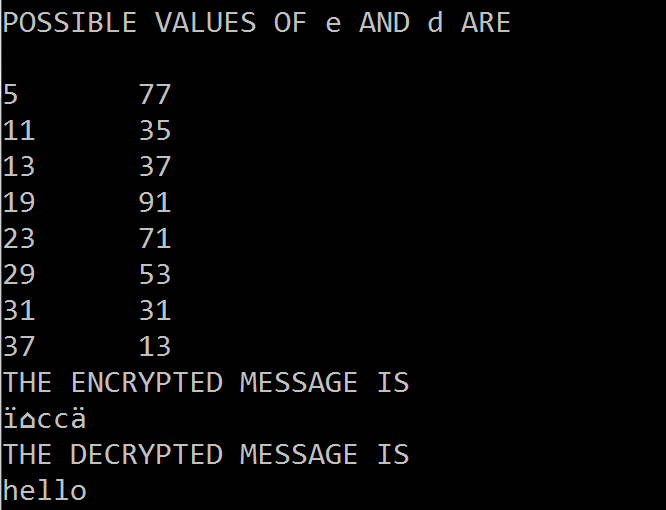 C code to implement RSA (Encryption and Decryption)