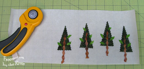 Fused trees on release paper