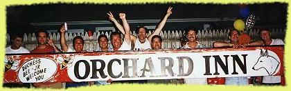 The original Orchard Inn sign
