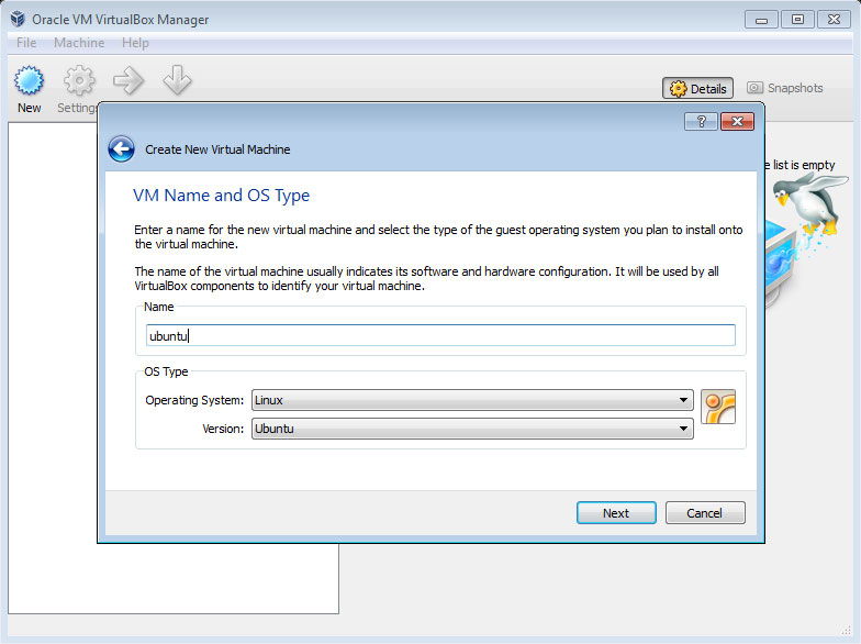 How to install Ubuntu 11.10 in Windows7 using VirtualBox