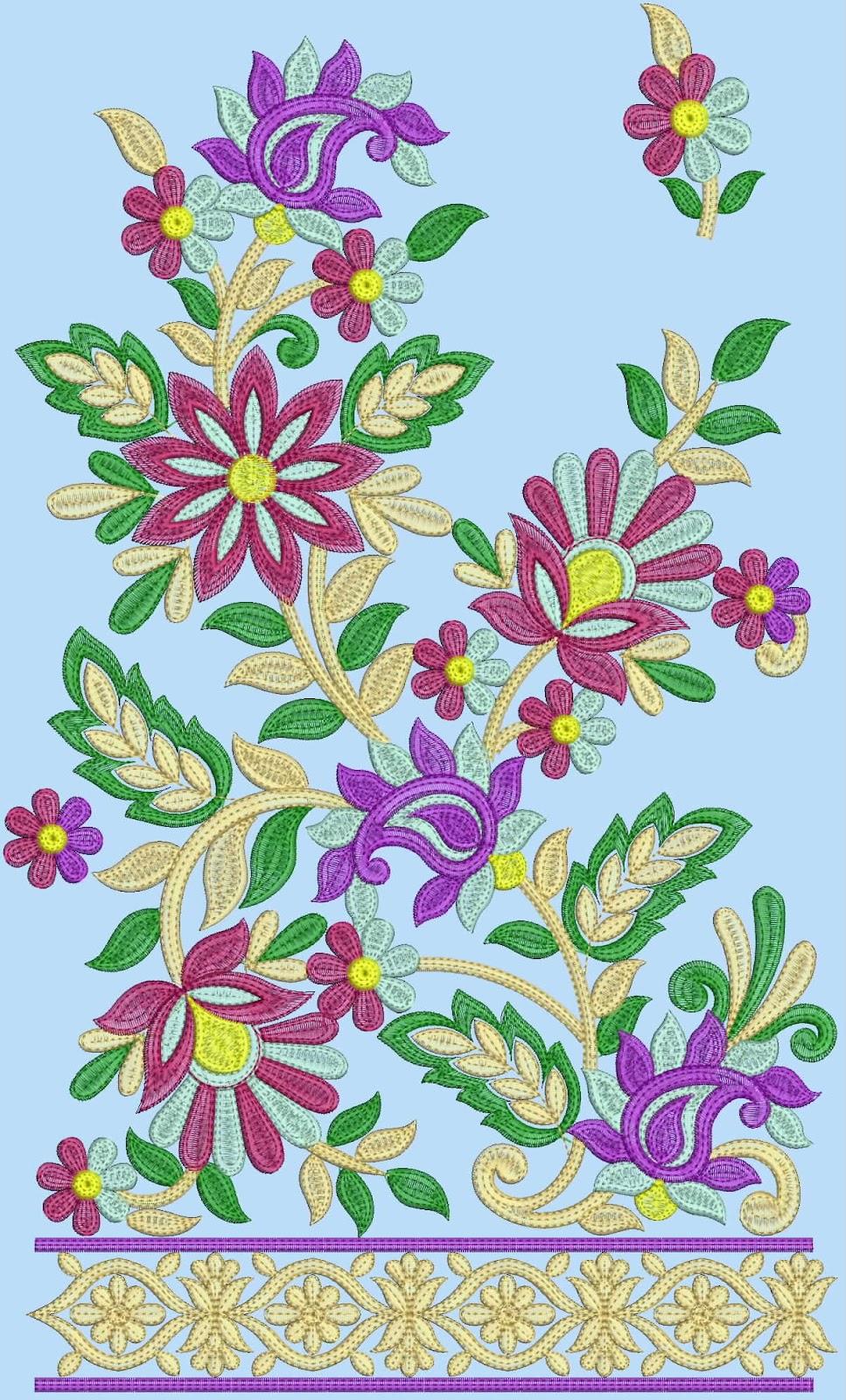 كل الرشمات جميلة Embroidery+salwar+suits+design