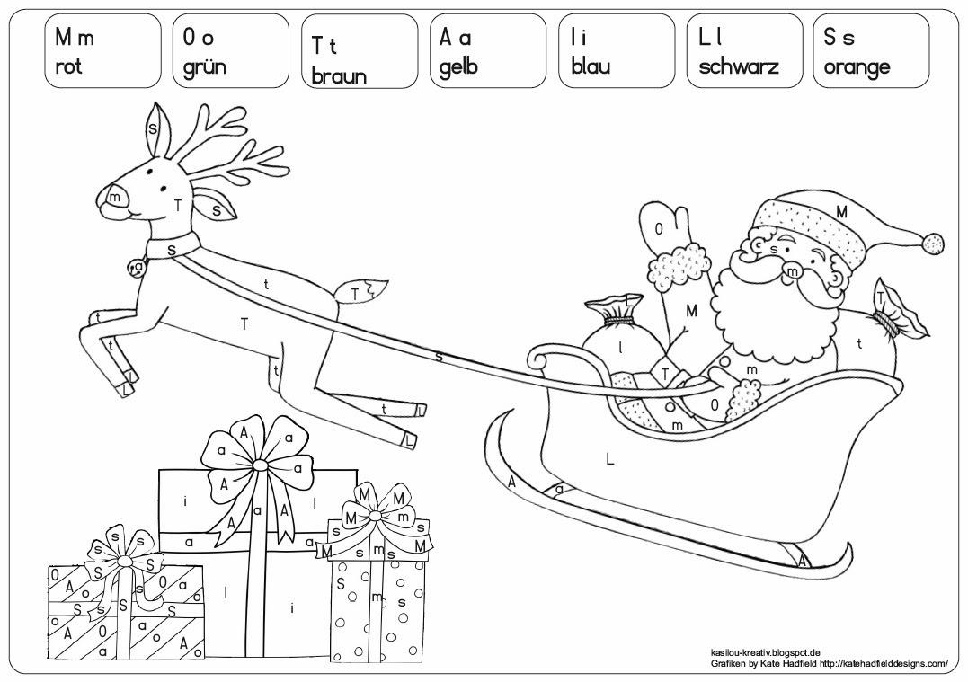 kasilou: Malen nach Buchstaben, weihnachtlich